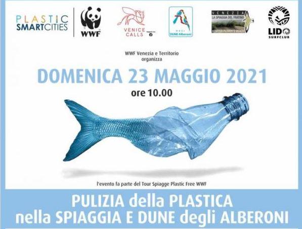 Locandina evento pulizia Alberoni 23 maggio 2021