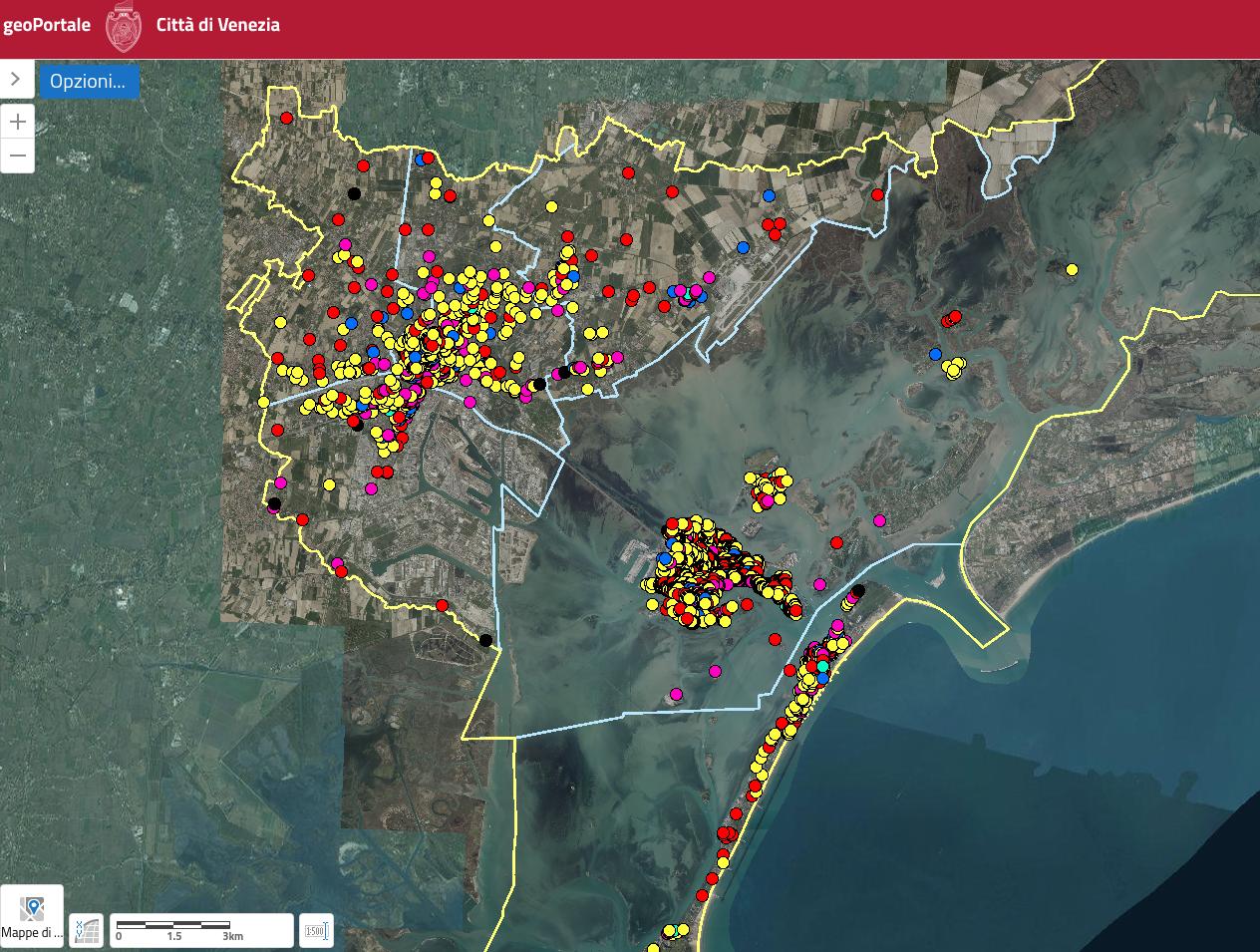 Schermata del portale GeoIDS