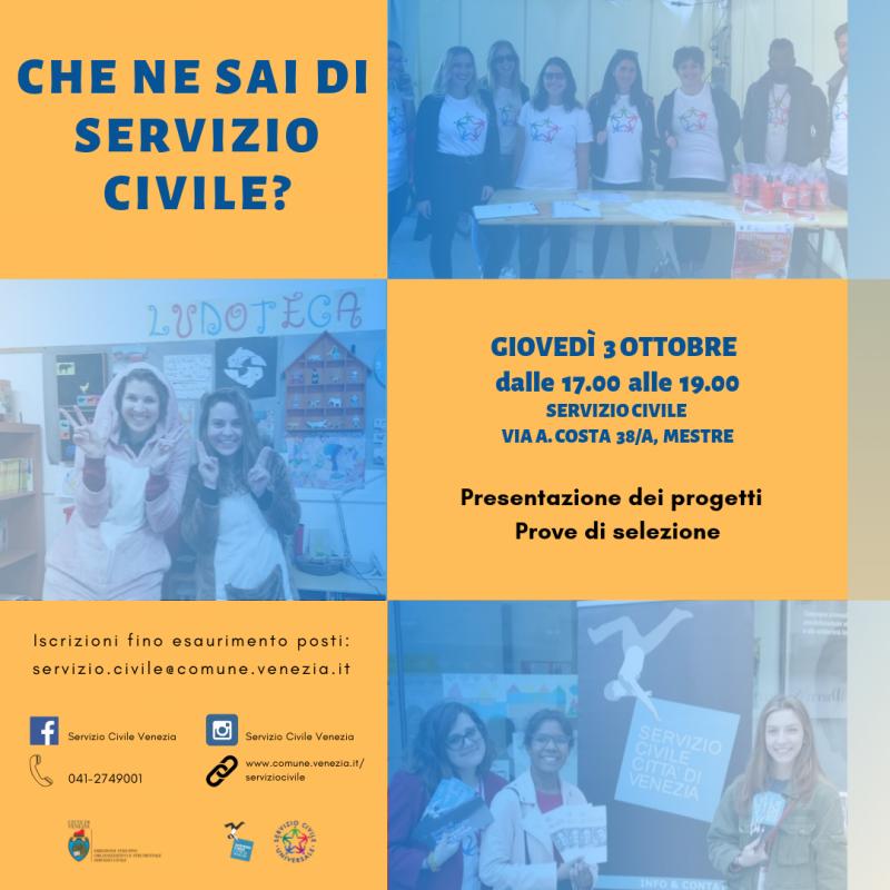 Locandina Evento Servizio Civile 3 Ottobre