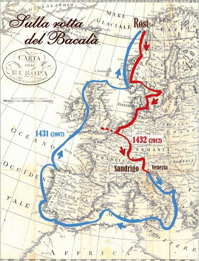 cartina sulla rotta del baccalà