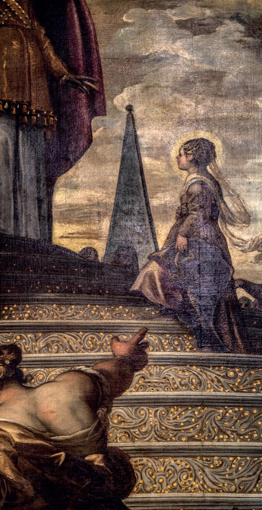 particolare di Presentazione di Maria al Tempio di Tintoretto