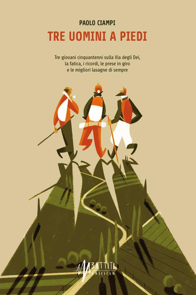 copertina libro Tre uomini a piedi