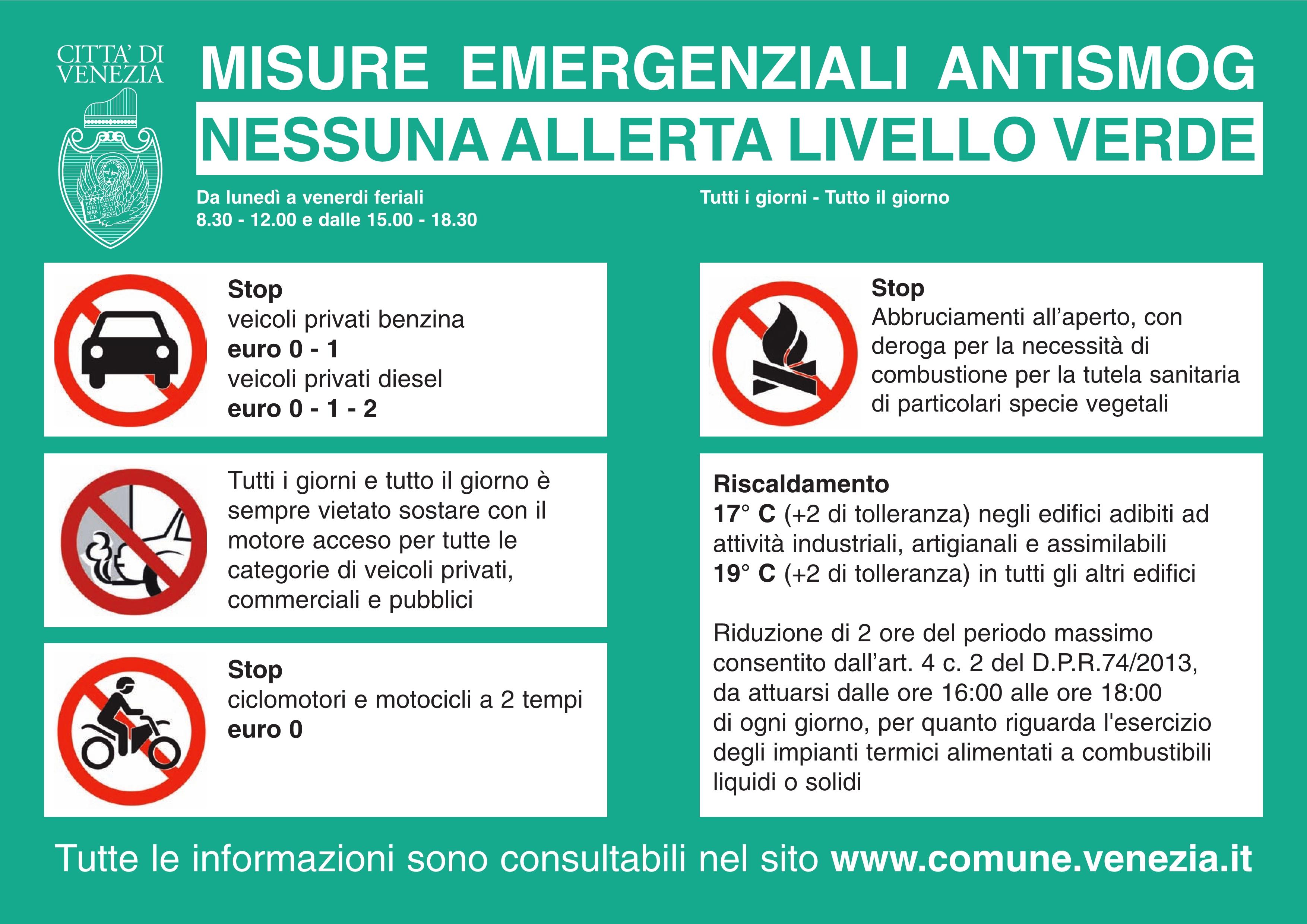 descrizione adempimenti in caso di allerta 0 - VERDE