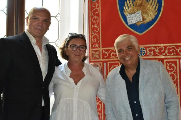 L'assessore Mar con il sindaco e la vicesindaco di Pirano e Porto Rose